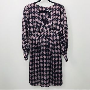 Collective Concepts S Purple Puff Sleeve Dress